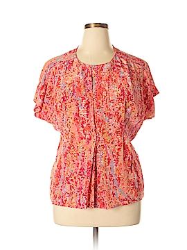 H&M L.O.G.G. Short Sleeve Silk Top Size 10