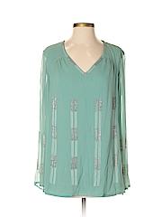Magaschoni Long Sleeve Silk Top