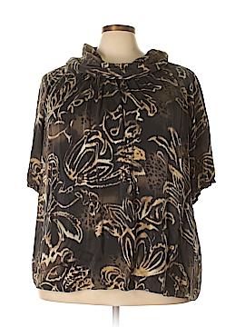 Anne Klein Short Sleeve Silk Top Size 3X (Plus)