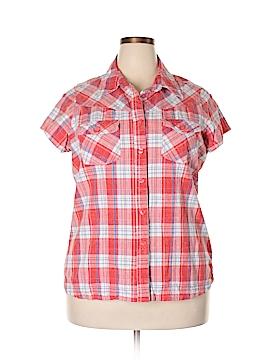 Bit & Bridle Short Sleeve Button-Down Shirt Size 1X (Plus)