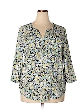 Anne Carson 3/4 Sleeve Blouse Size 1X (Plus)