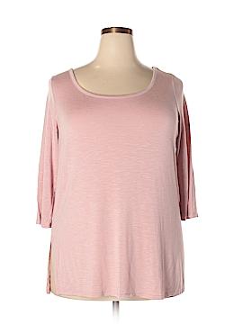G by Giuliana Rancic 3/4 Sleeve T-Shirt Size 1X (Plus)