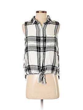 Beach Lunch Lounge Sleeveless Button-Down Shirt Size XS