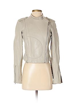 Theory Leather Jacket Size 0