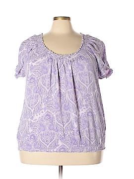 St. John's Bay Short Sleeve Blouse Size 3X (Plus)