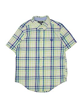 Chaps Short Sleeve Button-Down Shirt Size 14