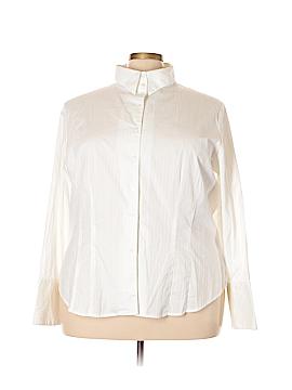 I.N. Studio Long Sleeve Button-Down Shirt Size 3X (Plus)