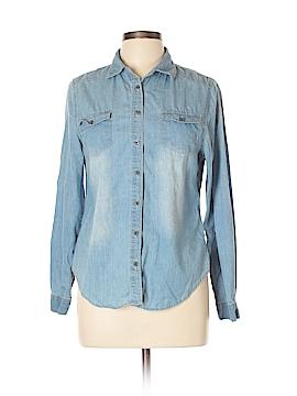 Noble U Long Sleeve Button-Down Shirt Size L