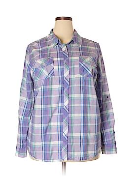 Arizona Jean Company Long Sleeve Button-Down Shirt Size 2X (Plus)