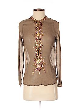 Antik Batik Long Sleeve Silk Top Size S
