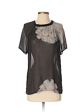 BLK DNM Short Sleeve Silk Top Size S