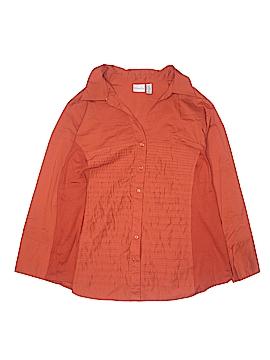 Kim Rogers Long Sleeve Button-Down Shirt Size 3X (Plus)