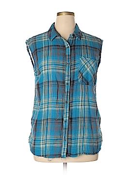 Treasure & Bond Sleeveless Button-Down Shirt Size XL