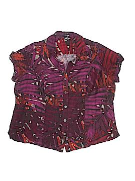 East5th Short Sleeve Button-Down Shirt Size 1X (Plus)