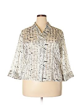 Jaipur 3/4 Sleeve Button-Down Shirt Size XL