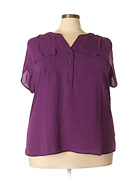 Ideology Short Sleeve Blouse Size 3X (Plus)