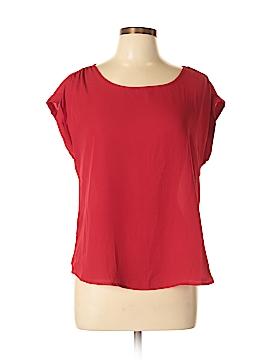 Pink Rose Short Sleeve Blouse Size L