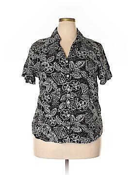 Gloria Vanderbilt Short Sleeve Button-Down Shirt Size 1X (Plus)
