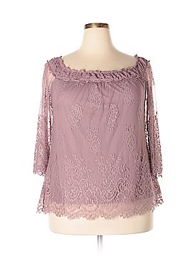 City Chic 3/4 Sleeve Blouse Size 18 Plus (M) (Plus)