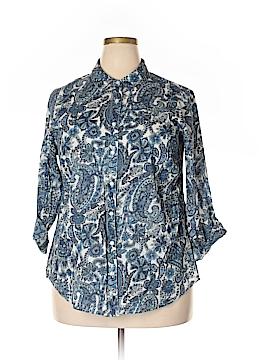 DressBarn Long Sleeve Button-Down Shirt Size 1X (Plus)