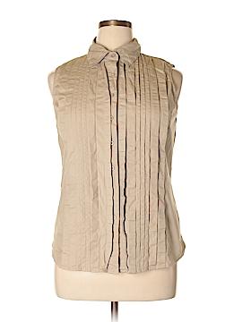 Allison Morgan Sleeveless Button-Down Shirt Size XL