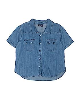 Denim Co Short Sleeve Button-Down Shirt Size L