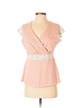 Garnet Hill Short Sleeve Blouse Size S