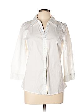 Preview International 3/4 Sleeve Button-Down Shirt Size L