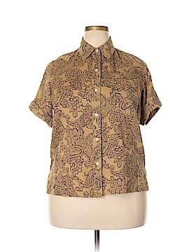 Lauren by Ralph Lauren Short Sleeve Button-Down Shirt Size 1X (Plus)