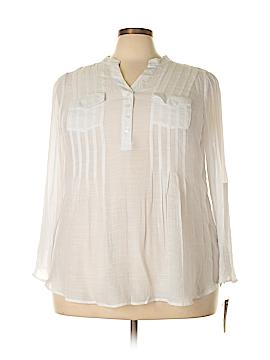 Zac & Rachel Long Sleeve Blouse Size 3X (Plus)
