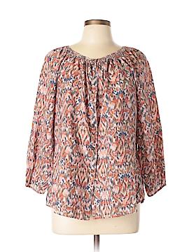 Sundance 3/4 Sleeve Silk Top Size L