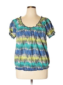 St. John's Bay Short Sleeve Blouse Size XL