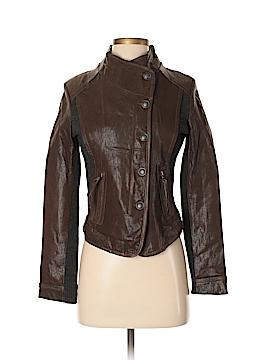 Via Spiga Leather Jacket Size XS