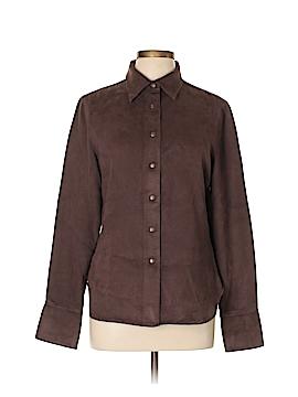 AK Anne Klein Long Sleeve Button-Down Shirt Size L