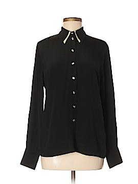 Escada Long Sleeve Silk Top Size 40 (EU)