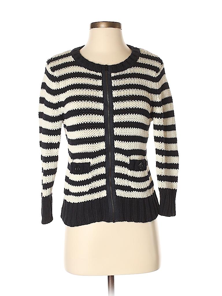 d60946205 Ann Taylor LOFT 100% Cotton Stripes Navy Blue Cardigan Size S - 73 ...