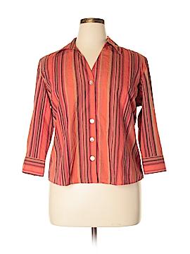 Caribbean Joe 3/4 Sleeve Button-Down Shirt Size XL (Petite)