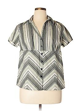 Carolina Colours Short Sleeve Button-Down Shirt Size 14