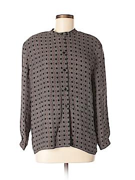 Calvin Klein Long Sleeve Silk Top Size 10