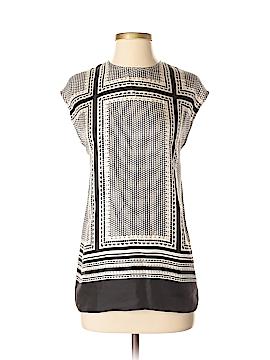 Rachel Zoe Short Sleeve Silk Top Size 2