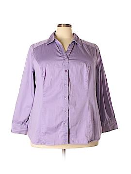 Lane Bryant Long Sleeve Button-Down Shirt Size 28 (Plus)