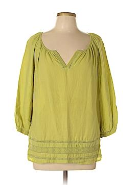 J.jill 3/4 Sleeve Blouse Size L (Petite)
