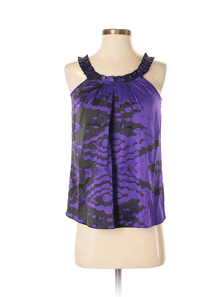 d39dcc660a0d36 Banana Republic Factory Store 100% Polyester Print Dark Purple ...
