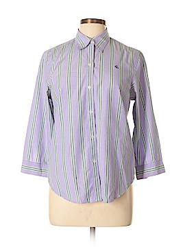 Lauren by Ralph Lauren 3/4 Sleeve Button-Down Shirt Size M