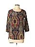Newbury Kustom Women 3/4 Sleeve Blouse Size S