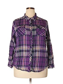 Sarah Arizona Long Sleeve Button-Down Shirt Size 1X (Plus)
