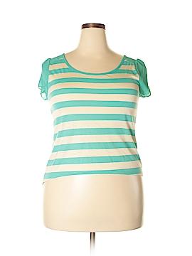 New Mix USA Short Sleeve Blouse Size 1X (Plus)