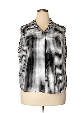 Carolina Colours Sleeveless Button-Down Shirt Size 22 (Plus)