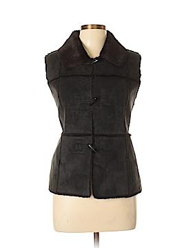 White House Black Market Faux Fur Vest Size L