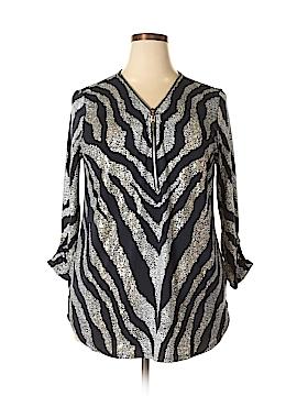 JM Collection 3/4 Sleeve Blouse Size XXL